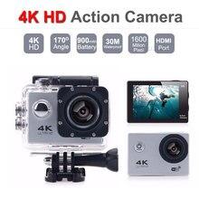 4K HD 1080P Wifi عمل مصغّر كاميرا 30M مقاوم للماء 2.0 شاشة قابل للنقل مصغّر مسجّل وكاميرا فيديو DVR خارجيّ رياضة خوذة كاميرا