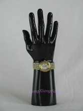 Free Shipping Mannequin Manequin Dummy Realistic Black Strong Male Mannequin Hand For Jewelry Watch Display