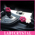 Ladycrystal Rhinestone Gear Stick Velvet Cover Handbrake Warm Cover Women Girls Ladies Car Styling Gear Shift Collars