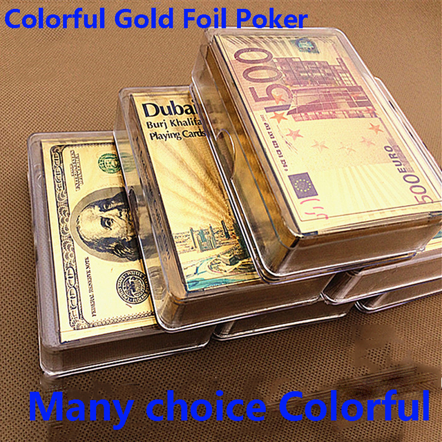 Cartes poker imitation or