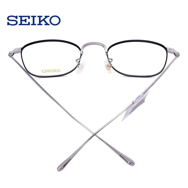 SEIKO titane lunettes cadre lunettes de Prescription hommes lunettes dioptriques lunettes optiques lunettes correctrices cadre avec lentilles - 4