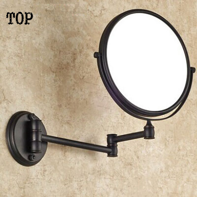Antique black 8 inch bathroom mirrors magnifying mirror with wall mounting cosmetic mirror bathroom illuminated mirrors large 8 inch fashion high definition desktop makeup mirror 2 face metal bathroom mirror 3x magnifying round pin 360 rotating