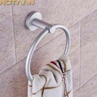 Bastidores de toallas portátiles redondos de aluminio anillos de soporte de toalla de pared accesorios de baño antioxidantes bastidores de toalla YT-12191