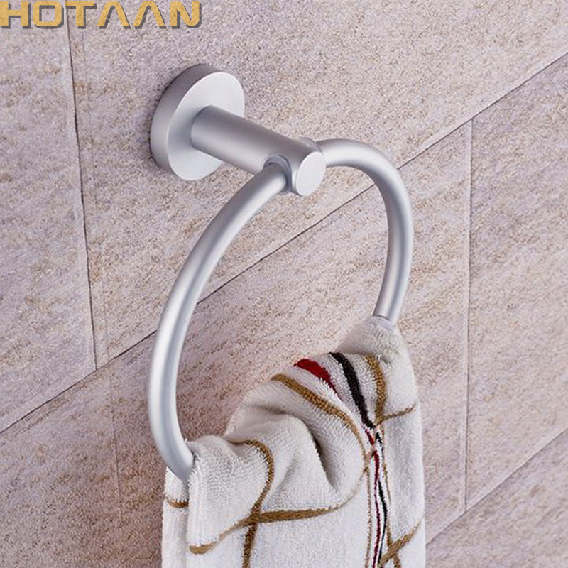 Portable Towel Racks Round Aluminium Towel Holder Rings Wall Mounted Bathroom Accessories Anti-Rust Towel Racks YT-12191