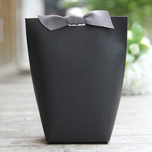 20 Pcs Small Gift Paper Bags For Jewelry Box Ribbon Kraft Chocolates Candy Packaging  Wedding Party Favors Packing