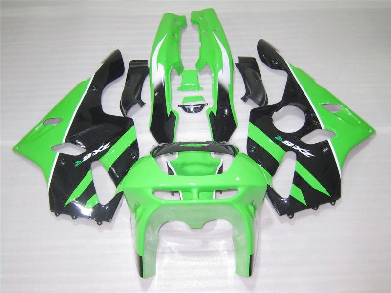 Aftermarket body parts fairing kit for Kawasaki Ninja ZX6R 94 95 96 97 green black fairings set ZX6R 1994-1997 OT14