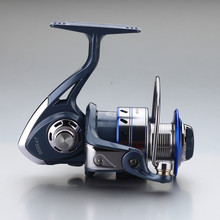 Hot sale cheap 13 bearing raft fishing spinning reel fishing 1000-7000 gear ratio 5.5:1 china fishing tackle shop products