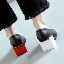 2017 Gladiator shoes women high heels slip on women pumps solid color round toe elegant high quality dress office lady shoes 07