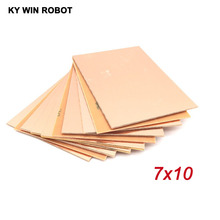 цена на Free shipping 10pcs FR4 PCB Single Side Copper Clad plate DIY PCB Kit Laminate Circuit Board 7x10cm