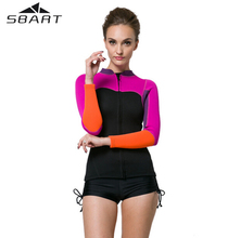SBART 2017 Neoprene Wetsuit Shirt 2MM Women Swim Long Sleeve Top Swimming Surfing Wetsuits Neopren