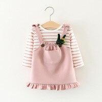 Maomaoleyenda Niñas Ropa de Bebé Establece falda de la Liga de los niños Encantador Cómodo de Dos piezas de Color Rosa negro 1 T 2 T 3 T