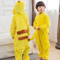 Animal Anime Pikachu Pokemon Cosplay Costume Pajamas Halloween Unisex Boy Girl Children Pyjama Onesie Kids Pijama