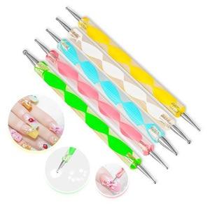 Image 2 - LKE 20 pièces/ensemble Nail Art Design ensemble pointage stylo dessin vernis à ongles Gel vernis brosse pour manucure ongles Art outils ongles Art brosse
