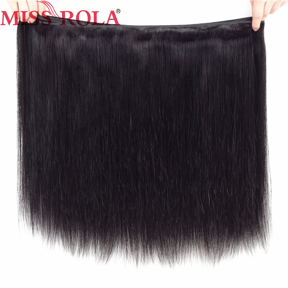 Fröken Rola Hair Pre-Colored Peruvian Hair 3 Bundles Straight 100% - Mänskligt hår (svart) - Foto 6