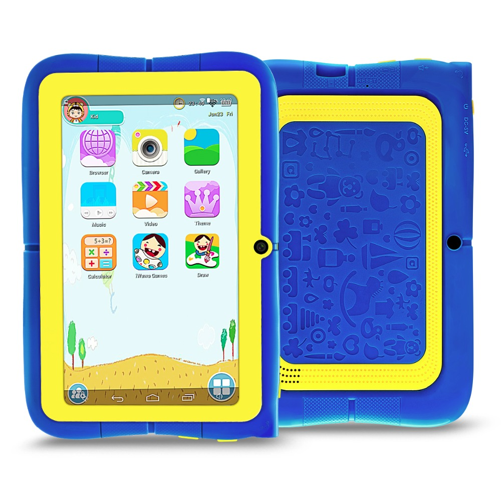YUNTAB 4colors 7 Inch Q88R Kids Tablet PC Android 4.4 Parental Control IWawa Software With Chic Stand Case