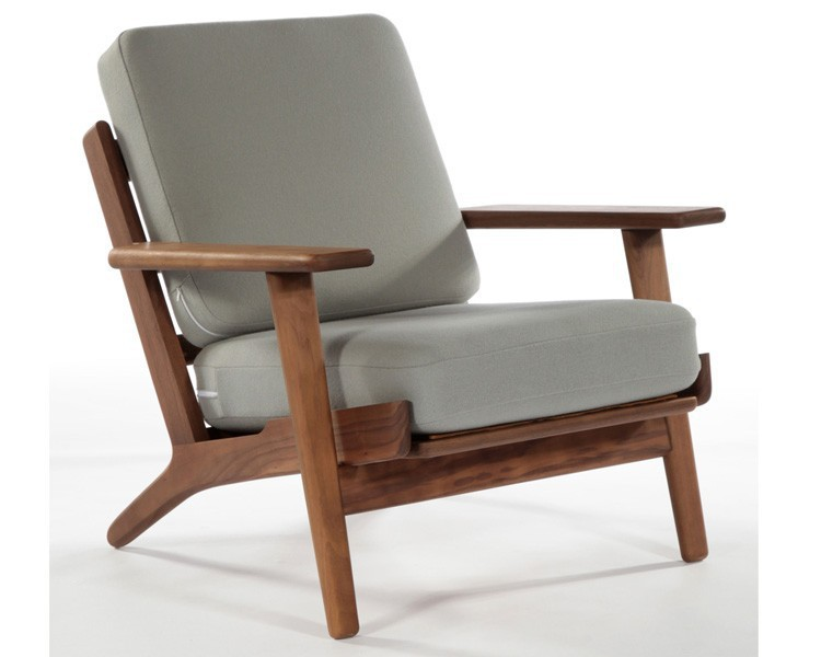Wholesale hans wegner armchair sofa chair real photos - Design plans for wood chaise lounge chair ...