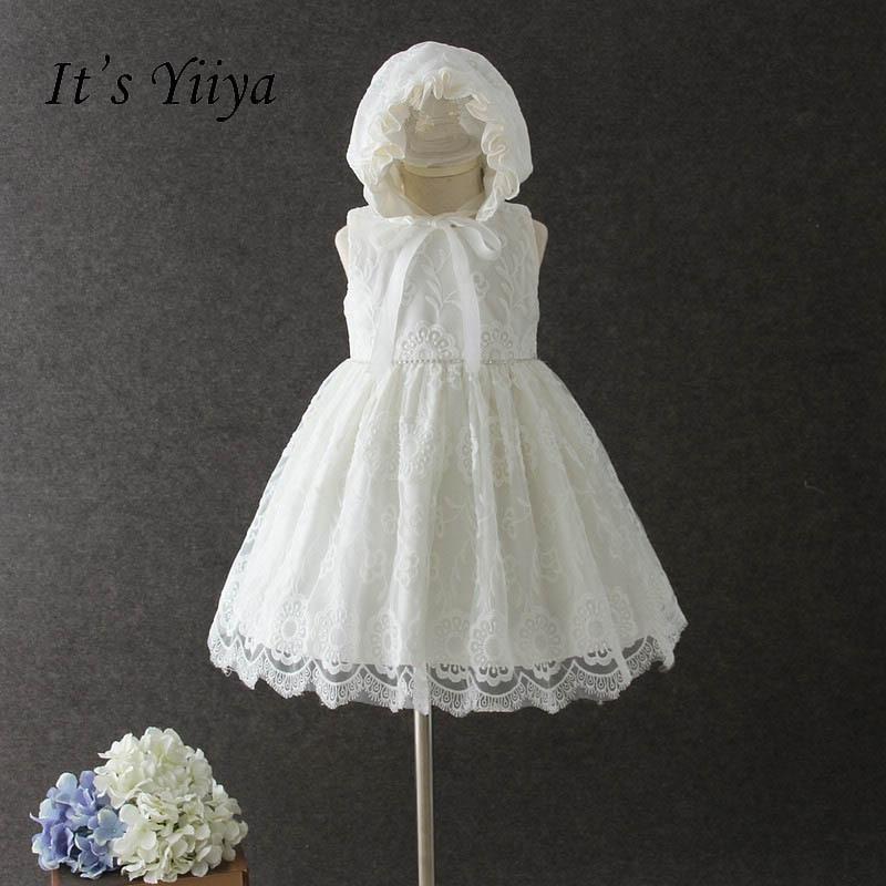 It's yiiya Bow Zipper   Flower     Girl     Dress     Flower     Girls   Kid Child Cloth With Hat Ball Gown   Dress   For Party Wedding   Girl     Dress   S259
