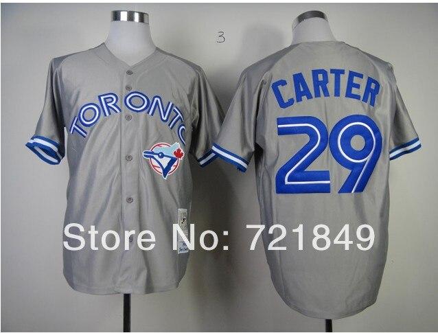 90e6aba20 Discount Toronto Blue Jays Jerseys 29 Joe Carter retro 1993 1992 Throwback  baseball Jersey blue white black gray by M N Cheap
