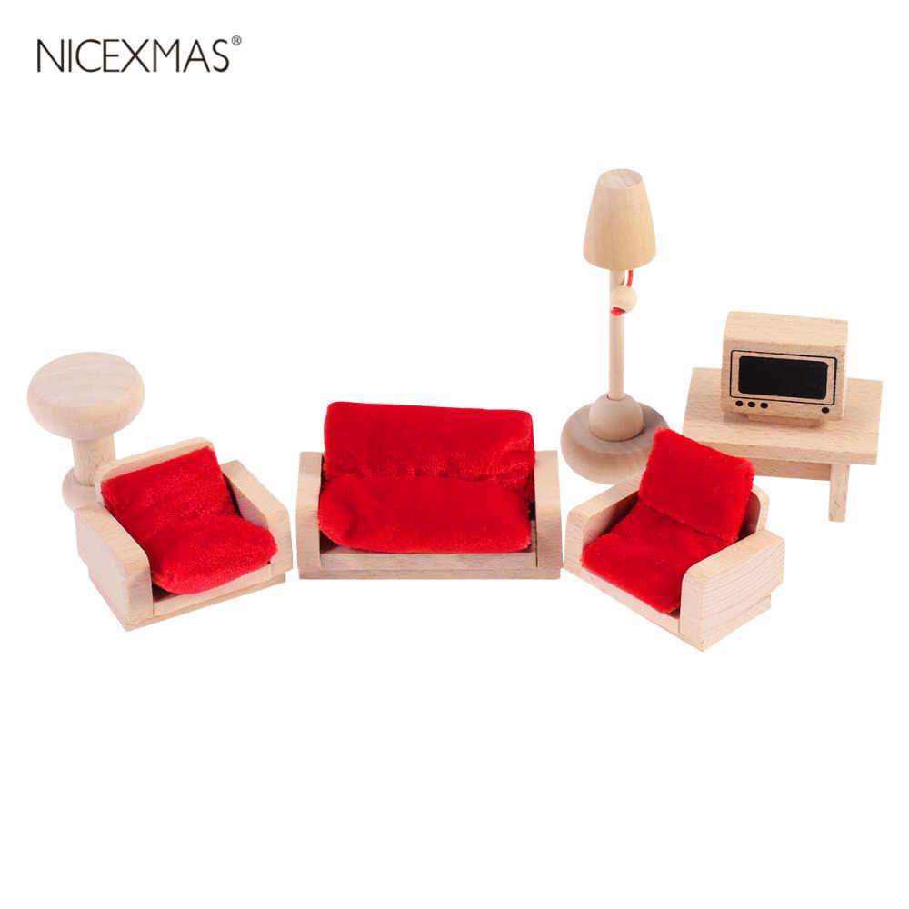 7 шт., имитационный мини-комплект для гостиной, настольный комплект для дивана игрушечная мебель, комплект для детей ясельного возраста