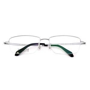 Image 2 - Gmei Optical Ultraleicht 100% Reinem Titan Halb Rand Brille Rahmen Für Business Männer Myopie Lesen Rezept Brille LR8961