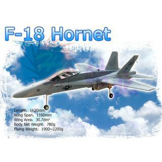 RC airplane F18 jet KIT white color no paint