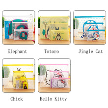 transparent clear A4 folder for documents totoro kitty booklet pencil plastic pen file bag case organizer for office school