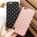 Fashion Ultra Thin Gold Stars Pattern Case For iphone 6 Case For iphone 6S 6 Plus 5 5S SE Phone Cases Cute Back Cover Capa Funda