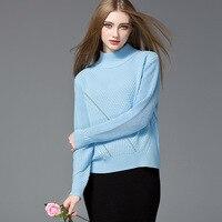 MaraCarol Brand Fashion Italien Women Pullovers 2016 New Autumn Winter OL Office Lady Sweaters Turtleneck Knitted