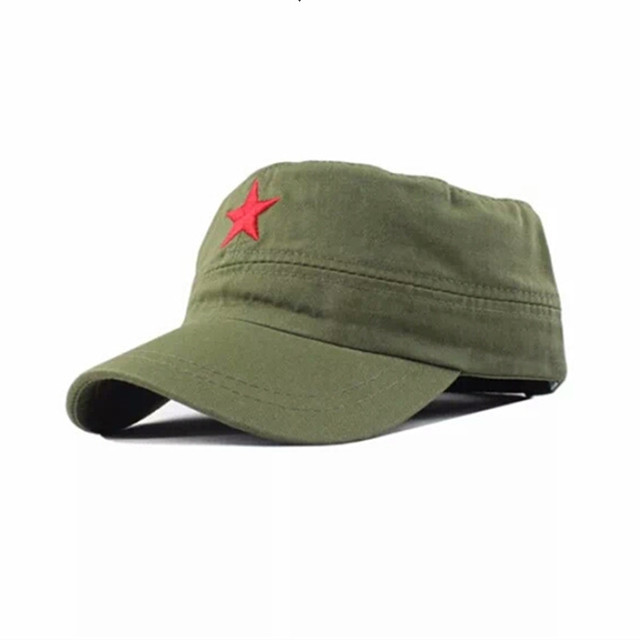 green army hat chinese military hat with five star chinese red army hat  military cosplay bd2ffca4468