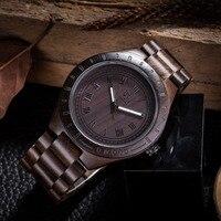 2018 Nieuwe Festival Memorial Dag Gift Enmex Natuurlijke Streep Houten Horloge Man Merk Kunstwerk Handgemaakte Vintage Houten Horloges