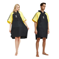 Microfiber Wetsuit Changing Robe Poncho with hood, Quick Dry Hooded Towels Robe Poncho, Beach Surf Poncho Compact & Lightweight