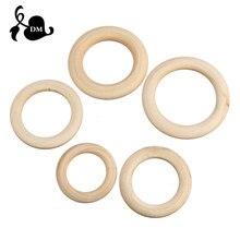 5 peças 40mm/45mm/50mm/55 madeira, bebê, dentição, anéis, brinquedo, diy acessórios para 3-12 meses produtos infantis cuidados com os dentes
