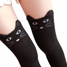 desire #50 New Creative Explosions Hot Sale Fashion Women Winter Cat Bear Panda Knitted Over Knee Long Boot Thigh-High Warm(China)