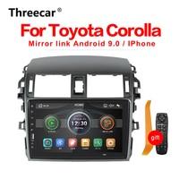 1 din Carplay 9 inch Car Radio Multimedia Mirror Link bluetooth For Toyota Corolla E140/150 2008 2009 2010 2011 2012 2013