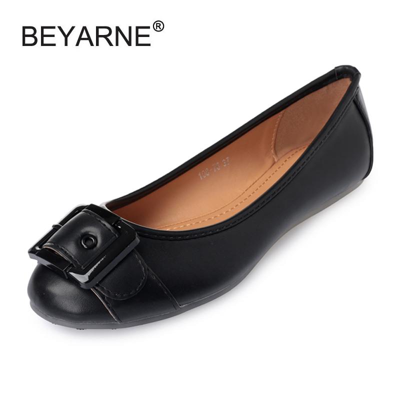 2018 New Women Flats Slip on PU Casual Loafers Shoes for Girl Student Shoes Solid Round Toe Flat Bota Shoes Woman Big Size 35-41 new shallow slip on women loafers flats round toe fishermen shoes female good leather lazy flat women casual shoes zapatos mujer
