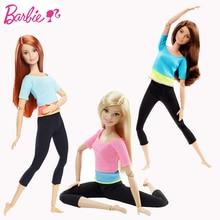 Original Barbie Gymnastics Yoga Sports Doll Barbie All Joints Move Doll Educational Toy Girl Christmas Birthday Toys Gift DHL81