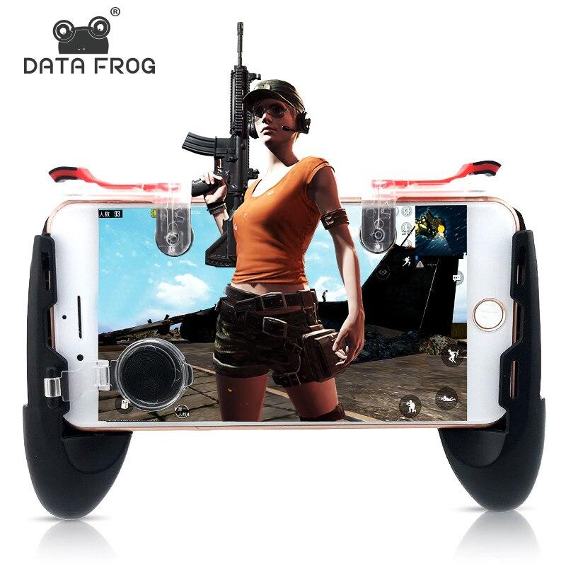 Dados Sapo Gatilho Controlador Game Fire Botão Joystick Do Telefone Móvel Para PUBG Para IPhone 7 8 Plus X Para Xiao mi mi 8 Android