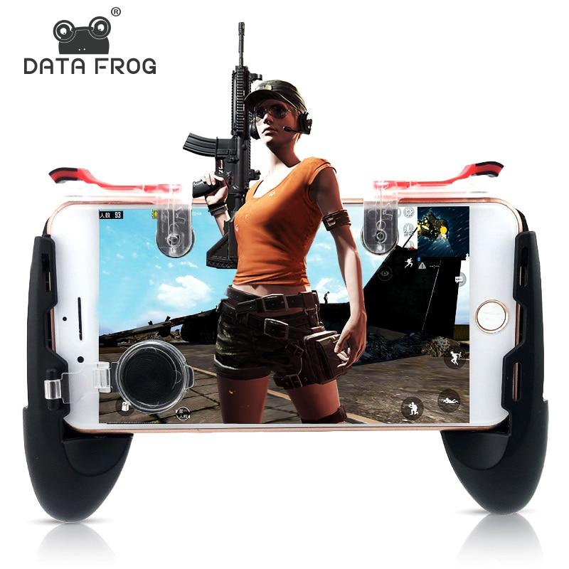 Daten Frosch Mobile Controller Trigger Spiel Feuer Taste Telefon Joystick Für PUBG Für IPhone 7 8 Plus X Für Xiao mi mi 8 Android