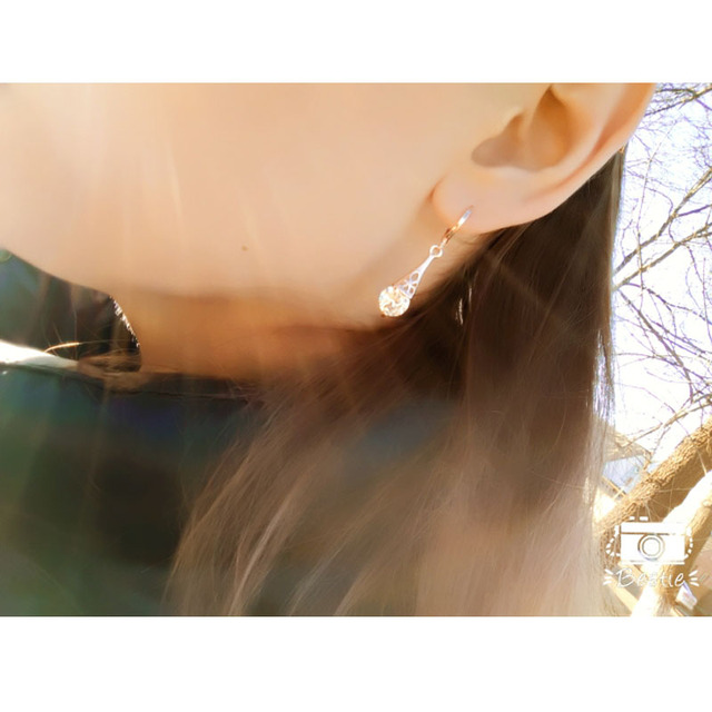 Free shipping White CZ Stone Crystal Pierced Dangle Drop Earrings Jewelry 2018 New Fashion Hot Women.jpg 640x640 - Free shipping White CZ Stone Crystal Pierced Dangle Drop Earrings Jewelry 2018 New Fashion Hot Women/Girl's Rose Gold-color Gift