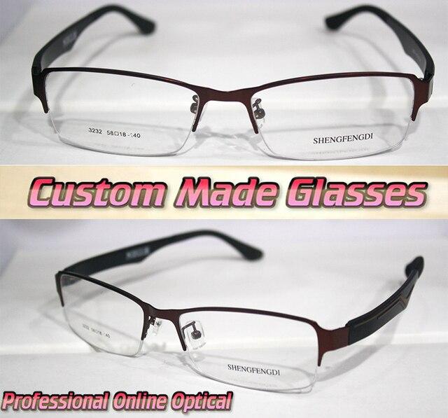 Dark red alloy frame wide legs Optical Custom made optical lenses ...