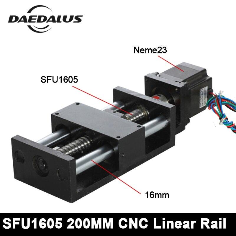 CNC Threaded Rod Linear Guide Rail Nema23 Motor 200MM Ball Screw Ball Screw Linear Module For 3d Printer Parts Robotic Arm Kit