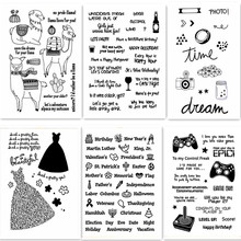 ZhuoAng Simple pattern/decoration/Alpaca Transparent and Clear Stamp  DIY Scrapbook Album Card Making Decoration