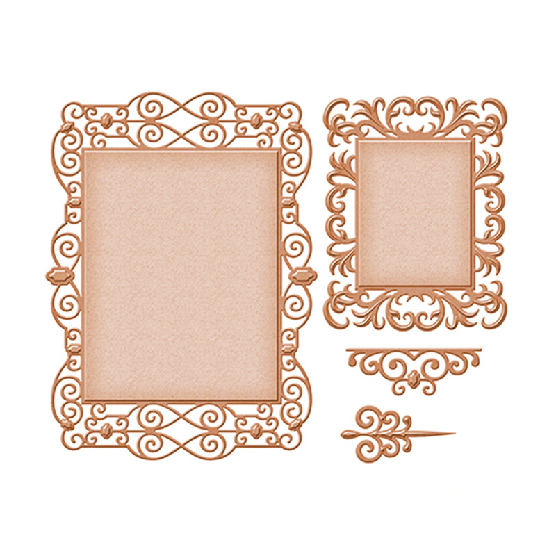 Naifumodo Lace Frame Metal Cutting Dies Scrapbooking for Card Making DIY Embossing Cuts Dies Craft Die Square Pattern New 2019 in Cutting Dies from Home Garden