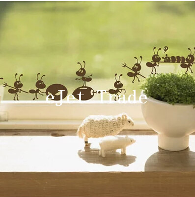 Furnishings wall stickers cartoon decoration glass stickers free shipping, ant on Mirror Window Stickers Home Decoration