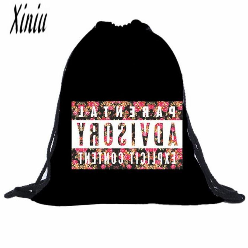 Смайлики сумка рюкзак drawstring 3D печать Сумки для девочек Для женщин Рюкзаки Mochila Feminina лоскутное softback Mulheres Mochila сумка