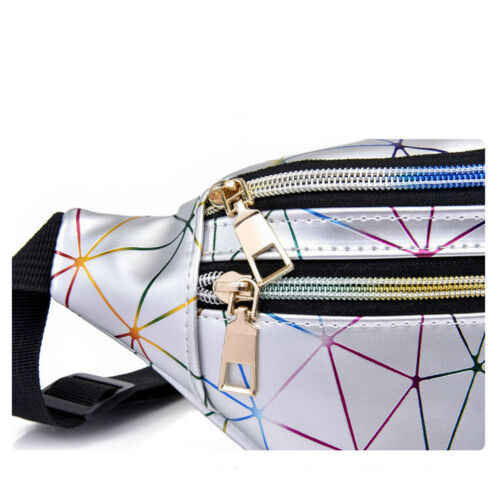 Модная разноцветная поясная сумка-кошелек практичная нагрудная сумка на молнии поясные сумки с ромбовидной строчкой поясная сумка