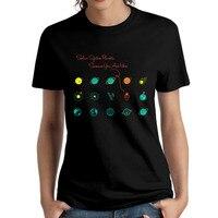 Donne Sistema Solare Pianeti Scienza Tu Sei Qui Girocollo ragazza donna maglietta O Collo di Modo Del Cotone t-shirt stampata per lady