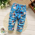 2017 spring childern cartoon plus velvet pants Korean baby boys girls leggings children warm cotton pants kids trousers