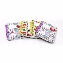 Лучшие 1 шт. блокнот мило катушки с наклейками четыре различные модели kawaii мини-ноутбук канцелярские школьные принадлежности личный дневник WH10