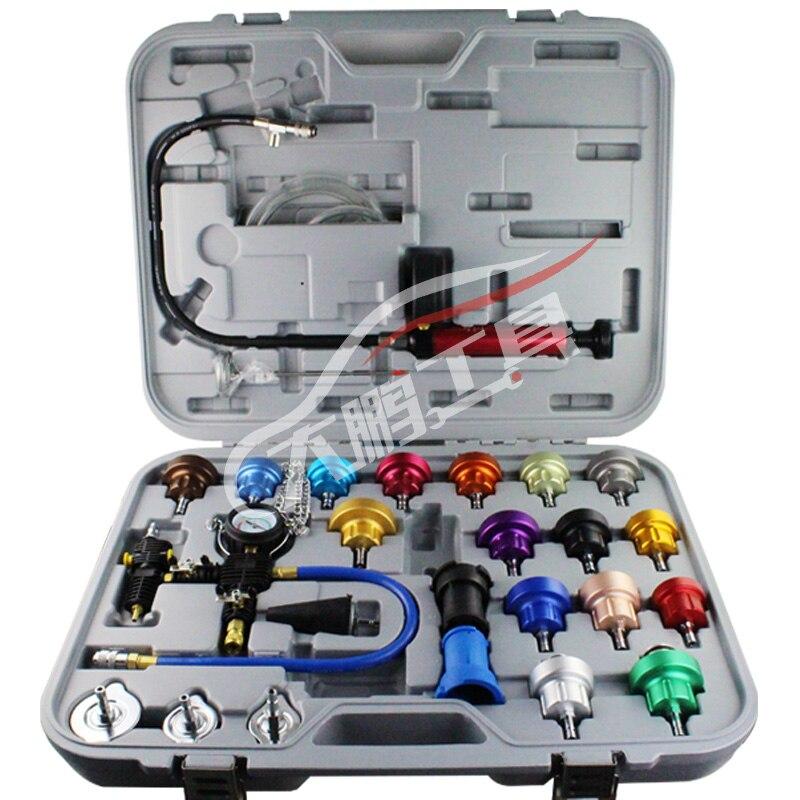 27pcs Universal Radiator Pressure Tester Kit Cooling System Tester Water Tank Leakage Tester Water Tank Leakage Tester  цены